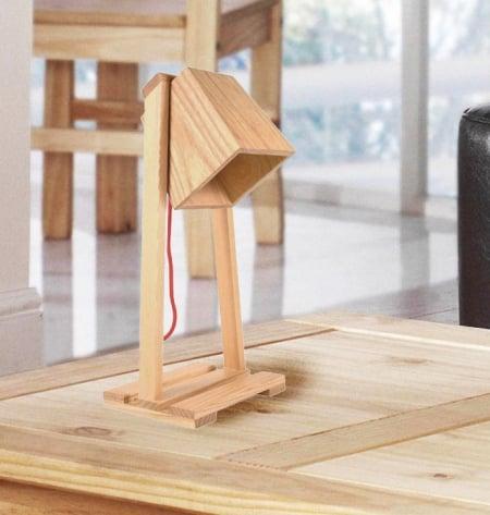 Светильник настольный Wooden Bell h-35см