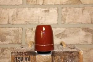 Патрон электрический керамика коричневый