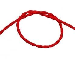 Витой провод в тканевой оплетке (красный)