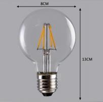 Лампа Эдисона LED G80 6W 1800K диммируемая