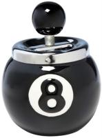 Ashtray Billiard 8 Черная