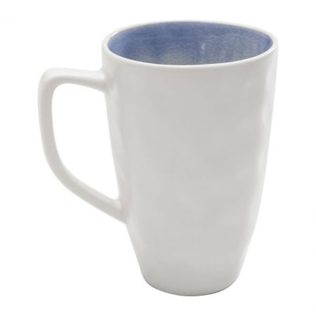 Mug Crackle White Blue