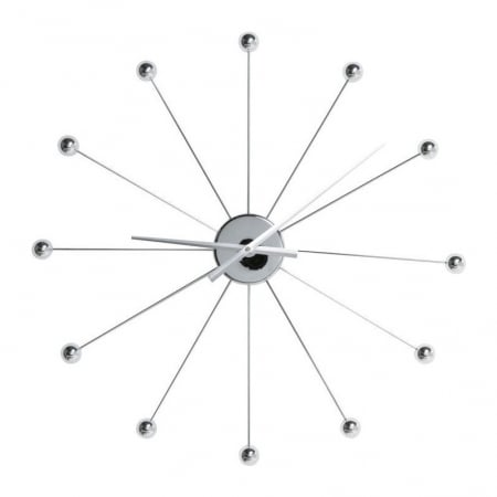 Wall Clock Like Umbrella Balls Chrome