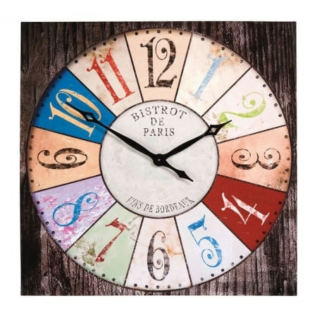 Wall Clock Bistro 80x80cm