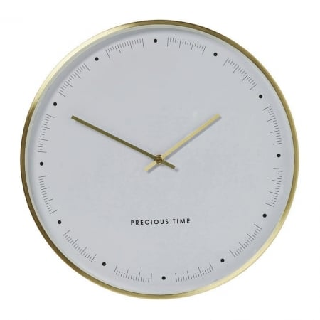 Wall Clock Effekt Gold Ø40cm