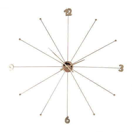 Wall Clock Like Umbrella Rose Gold