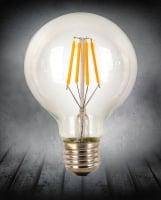Лампа Эдисона LED, G80 4W 2200K диммируемая