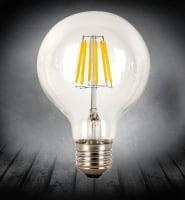 Лампа Эдисона LED G80 6W 2700K диммируемая