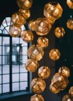 Подвесной светильник Gold d32см