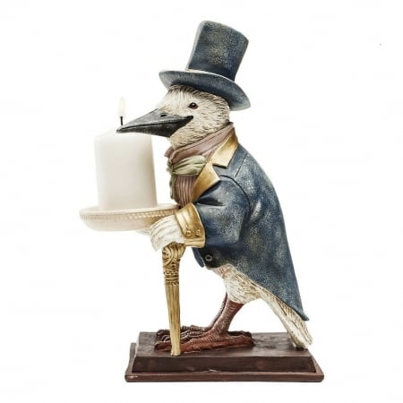 Candle Holder Gentlemen Bird