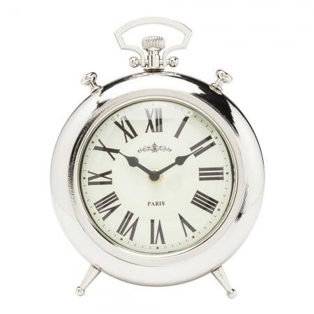 Настольные часы Pocket Round Silver -5