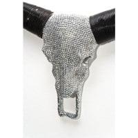 Настенный декор Antler Bull Head Crystal Silver