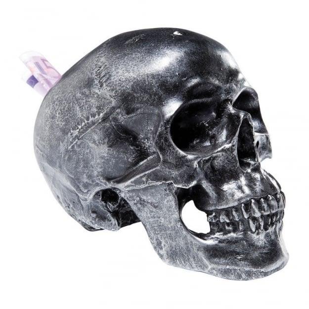 Копилка Skull Silver Antique