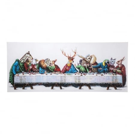 Picture Touched Last Supper 100x240cm