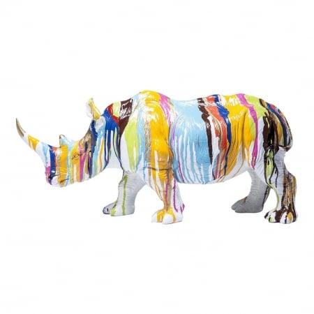 Deco Figurine Rhino Colore 26cm