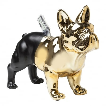 Money Box Bulldog Gold-Black