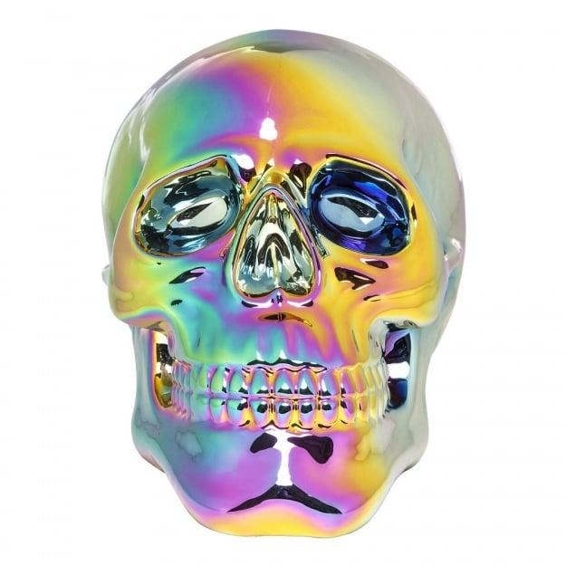 Декоративная голова Skull Rainbow