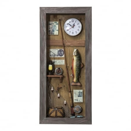 Deco Shadow Box Fisherman