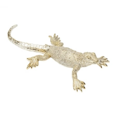 Deco Figurine Lizard Gold Matt Big