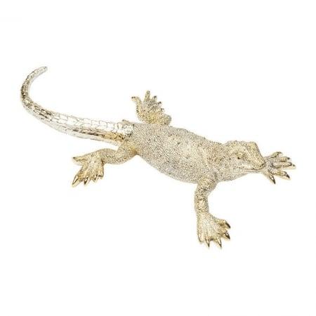 Deco Figurine Lizard Gold Matt Big