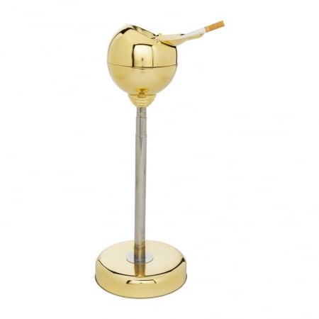 Floor Ashtray Spheric Brass