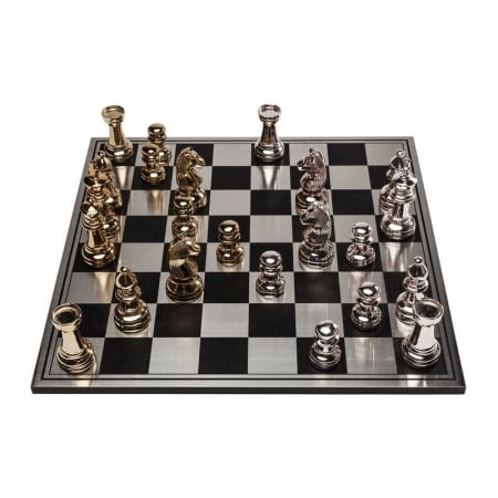 Chess Set Big Chess Rosegold-Gold