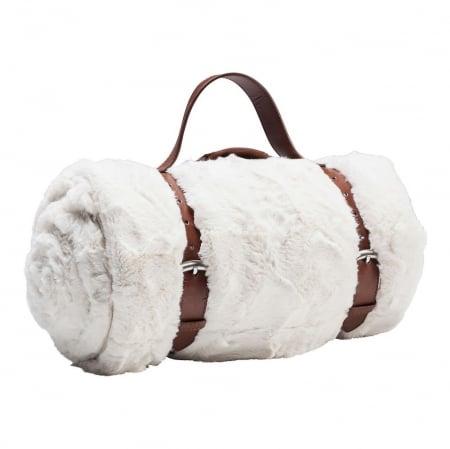 Blanket Fur White 150x200cm