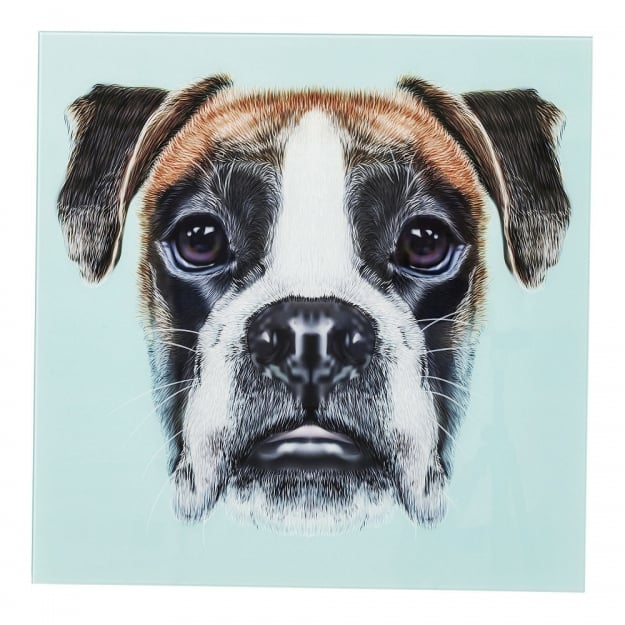 Картина Glass Dog Face 60x60cm