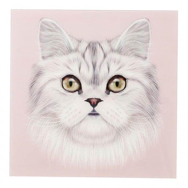 Картина Glass Cat Face 60x60cm