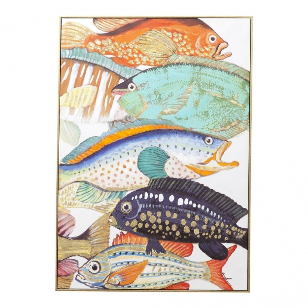 Picture Touched Fish Meeting Two 100x70cm