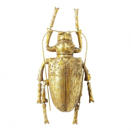 Wall Decoration Longicorn Beetle Gold