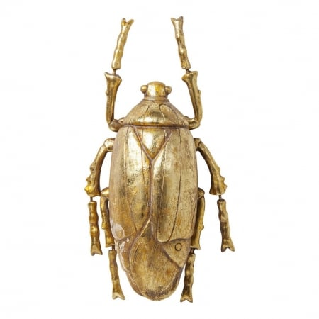 Wall Decoration Plant Beetle Gold