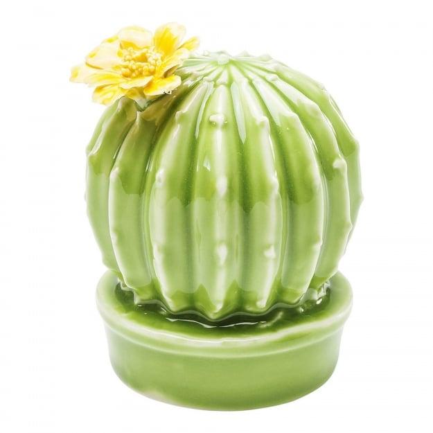 Декор Cactus Yellow Flower Round 10cm