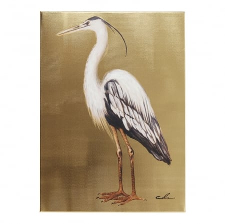 Picture Touched Heron Left 70x50cm