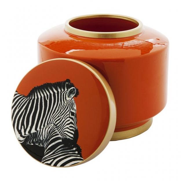 Декор Jar Zebra Orange 19 cm