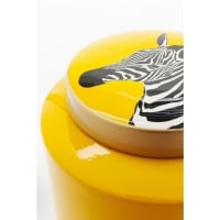 Декоративный  объект Jar Zebra  Yellow 25cm