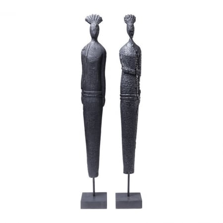 Deco Figurine Asia Clan Black Assorted
