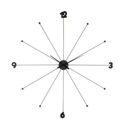 Wall Clock Like Umbrella Black