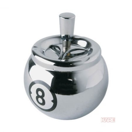 Ashtray Billard 8 Chrome