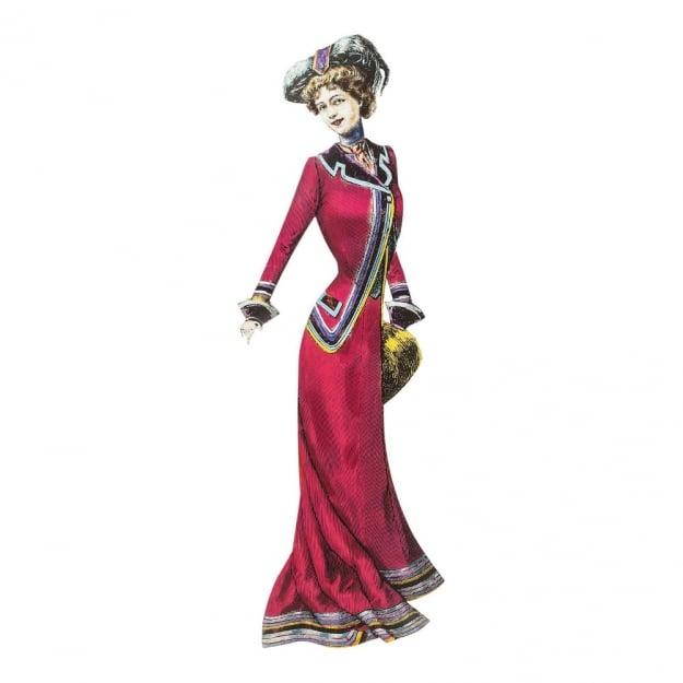 Настенный декор Lady Red