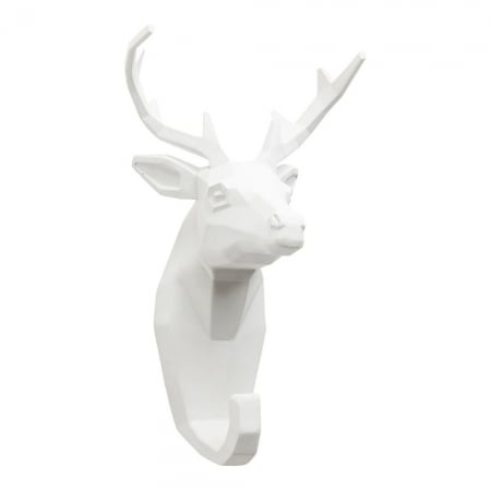 Wall Hook Deer White