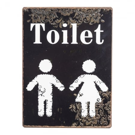 Wall Deco Sign Toilet
