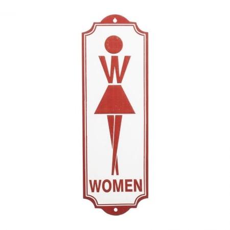 Wall Deco Sign Toilet Women