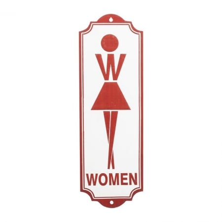 Wall Deco Sign Toilet Women