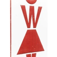 Настенный декор Sign Toilet Women