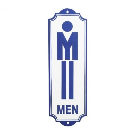 Wall Deco Sign Toilet Men
