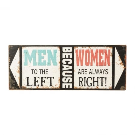 Wall Deco Sign Men Because Women