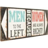 Настенный декор Sign Men Because Women