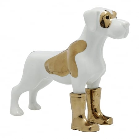Deco Figurine Dog in Boots Medium