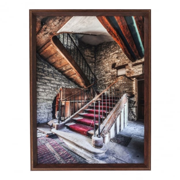 Картина Frame Old Staircase Red Carpet 80x60cm